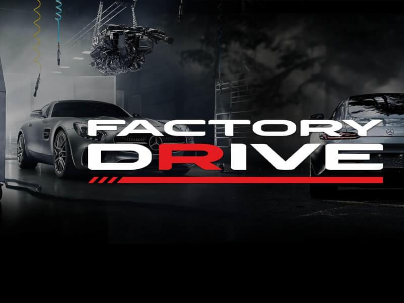 Factory Drive website banner